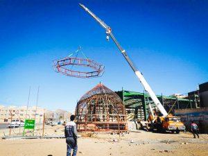 پروژه ساخت گنبد در بیرجند